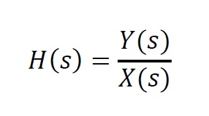 Transfer function H(s) - form 1
