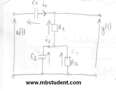 Transfer function H(s) of electrical system - example 2.