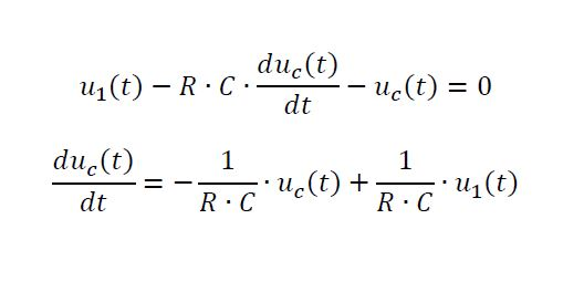 State space representation of RC circuit - example
