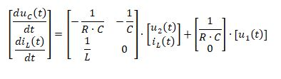 state space representation - RLC circuit equation 10