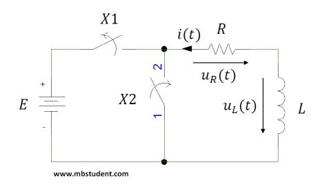 discharging inductivity - electrical circuit