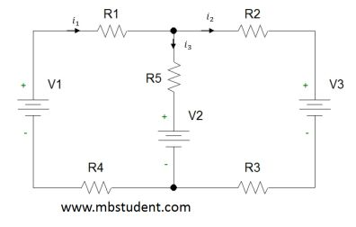 Electrical DC circuit - superposition method example 2.