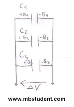 Capacitors connected in parallel