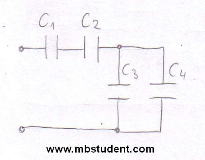 Total capacitance - example 1