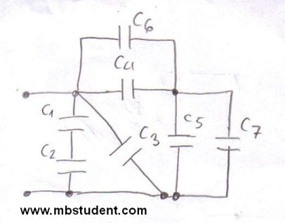 Total capacitance - example 3
