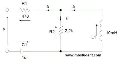 Total impedance Z - example 1.