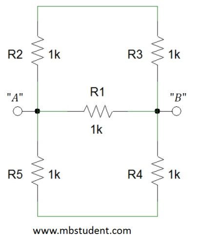 Total resistance R - example 3.