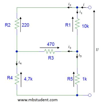 Total resistance R - example 4.