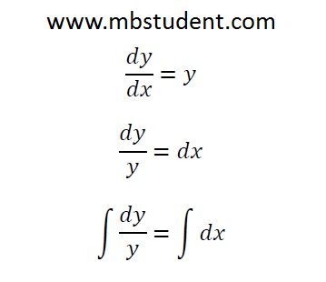 Differential equations - examples.
